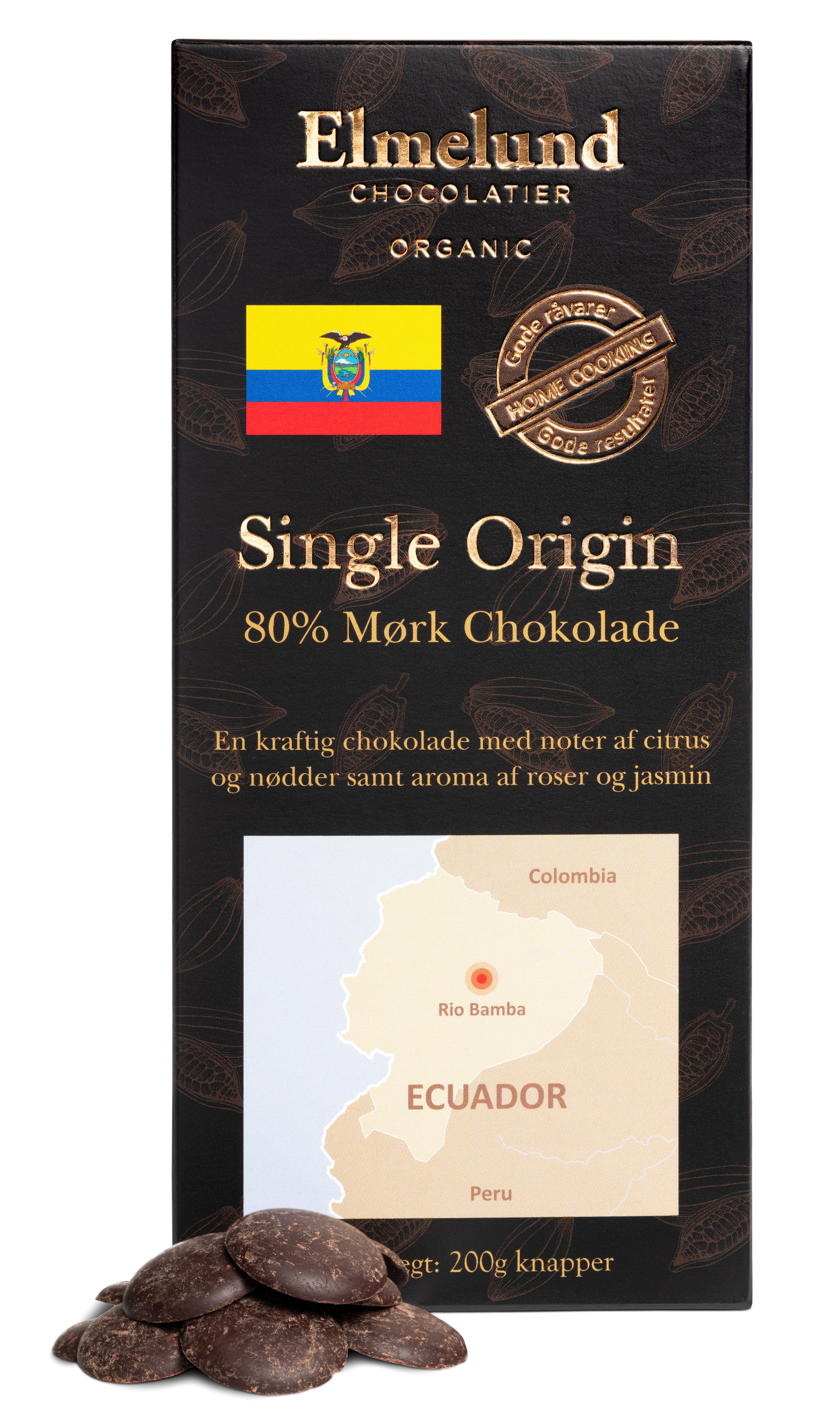 Billede af 200g - Ecuador 80% Mørk Chokolade