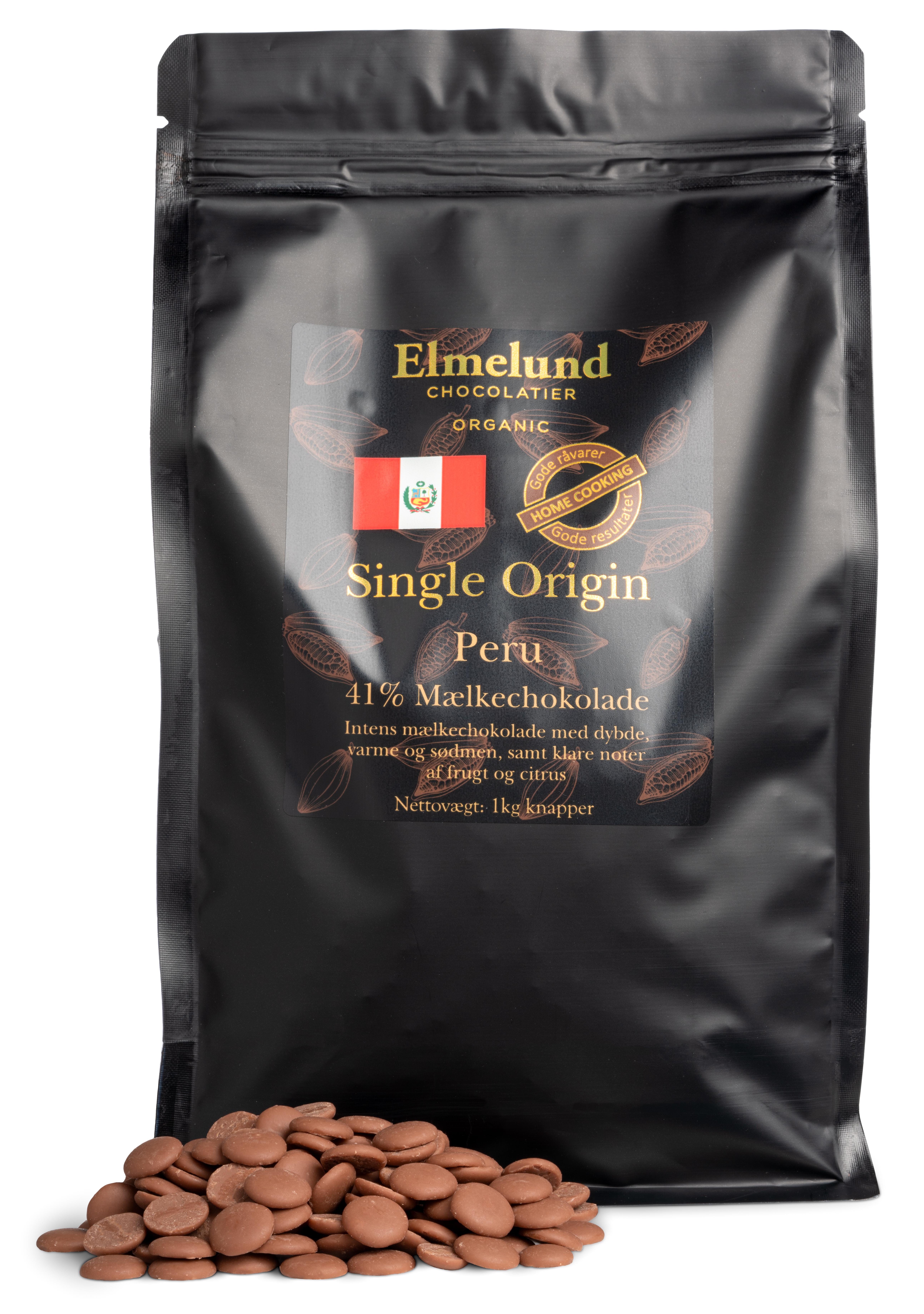 Billede af 1kg - Peru 41% Mælkechokolade