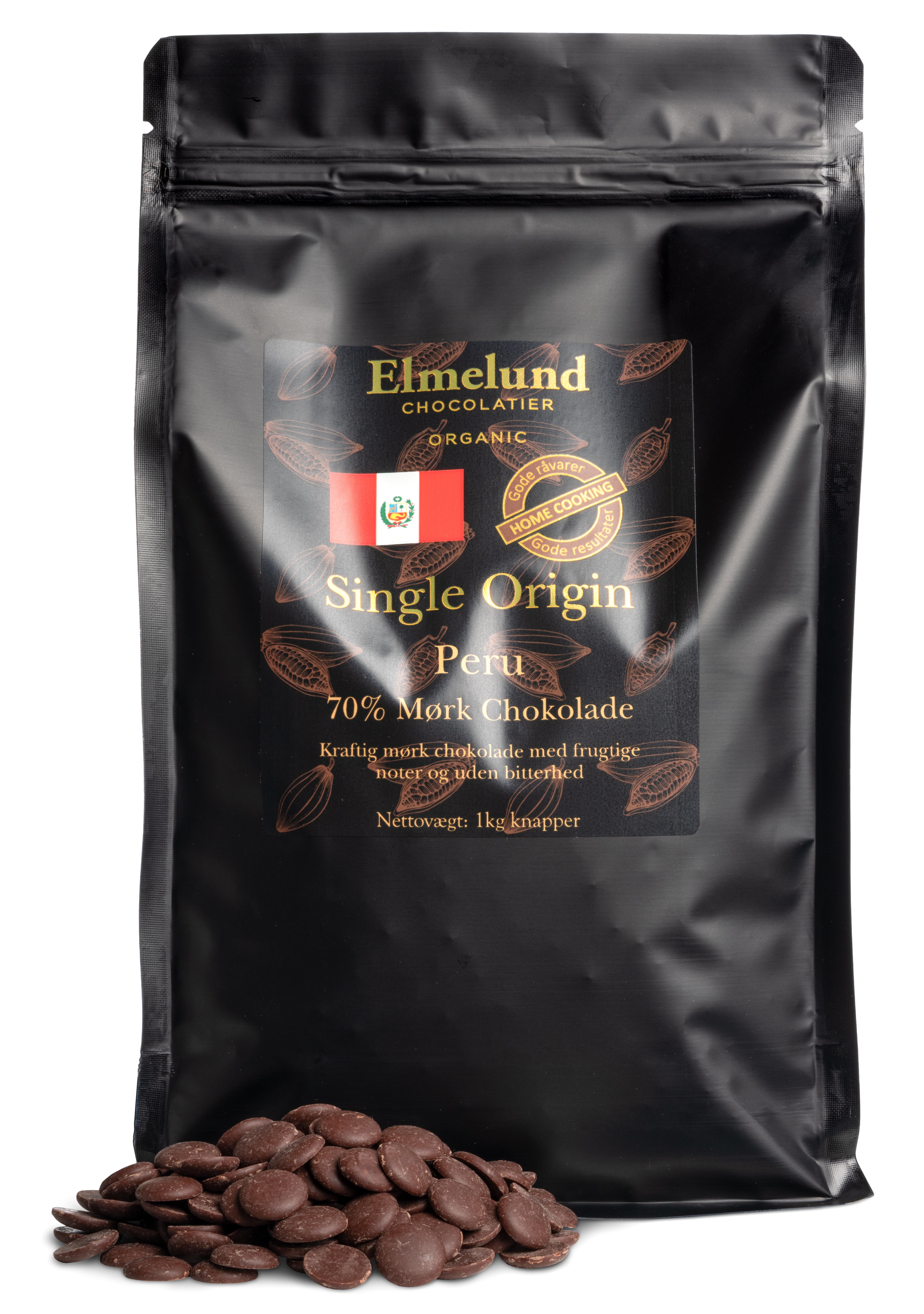 Billede af 1kg - Peru 70% Mørk Chokolade