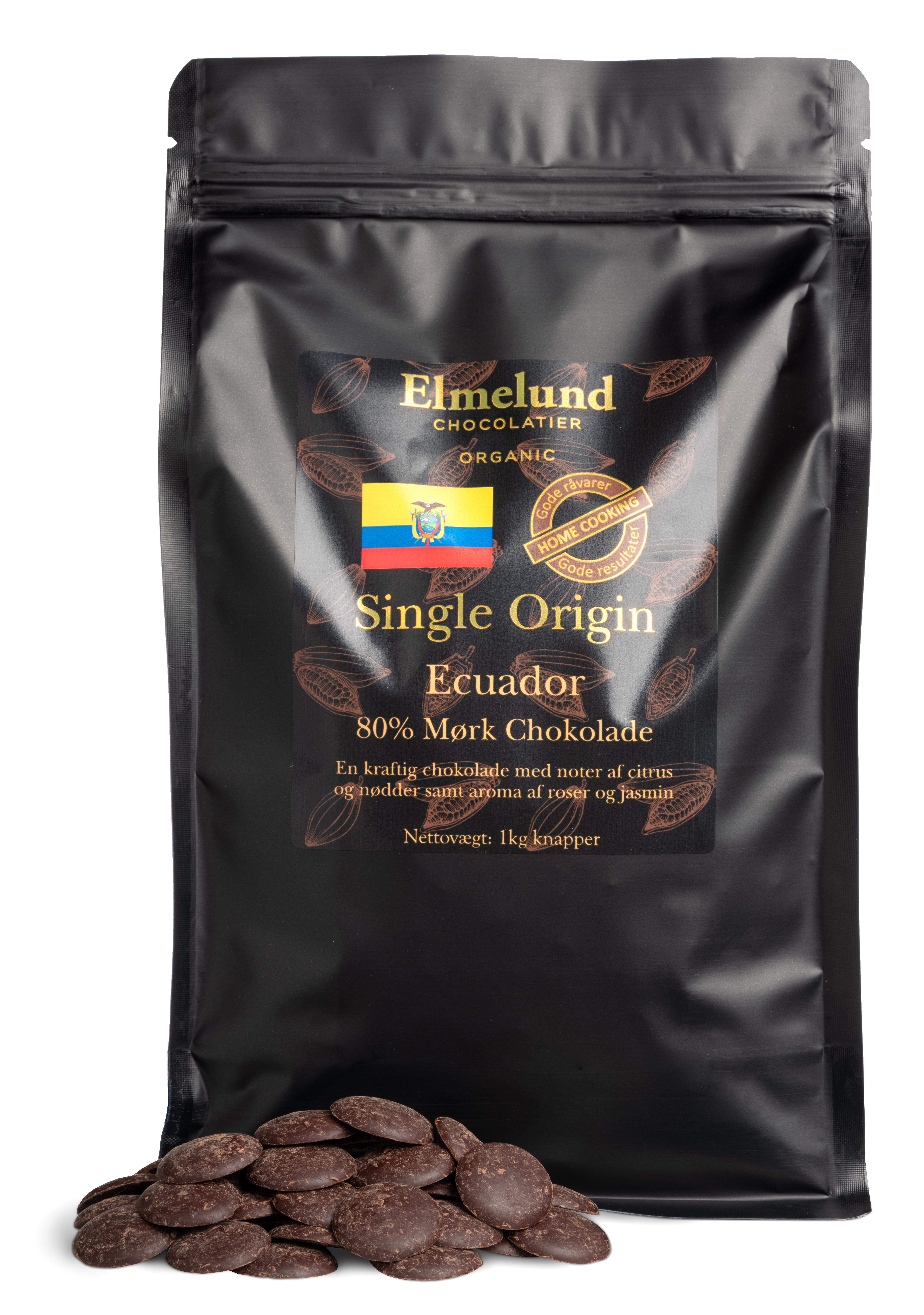 Billede af 1kg - Ecuador 80% Mørk Chokolade