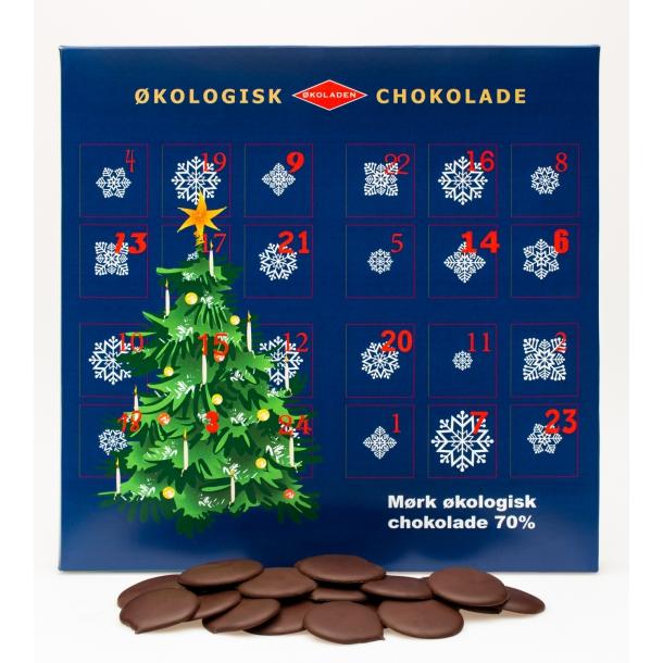 Julekalender - 70% Mørk Chokolade